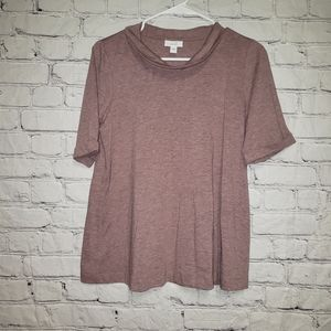 Pure J.Jill Cowl Neck Short Sleeve Top